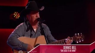 """The Voice 2014 - Dennis Bell: """"She Used To Be Mine"""" (Non-Chair Turner)"""