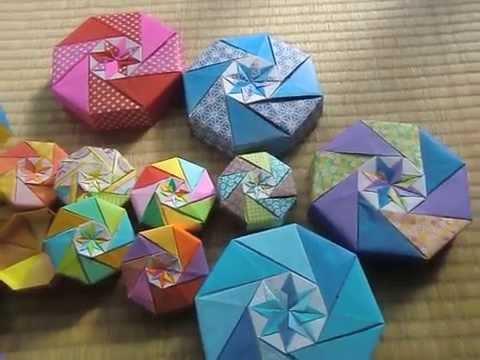ハート 折り紙 折り紙 八角箱 折り方 : youtube.com