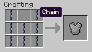 Mojang added CHAINS to Minecraft... so...