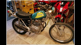 1971 Honda SL350 totally original 50 y.o. from California not ridden since 1985 barn find!