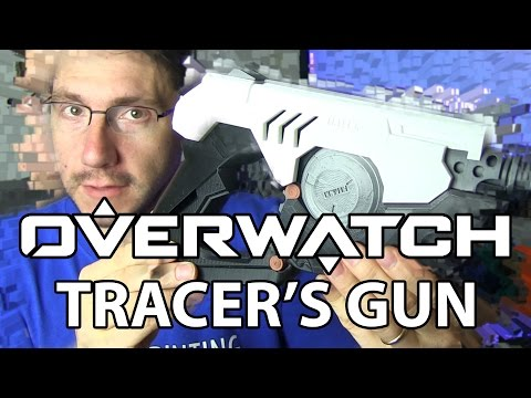 3D Printing Tracer's Gun from the Video Game Overwatch!
