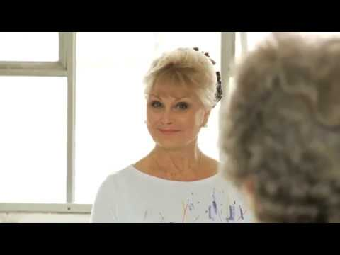"Angela Rippon masters ballet with ""Silver Swans"" ballets classes for over 55's"