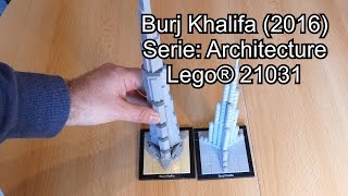LEGO Burj Khalifa 2016 Review (Set Nr. 21031 Architecture Test deutsch)