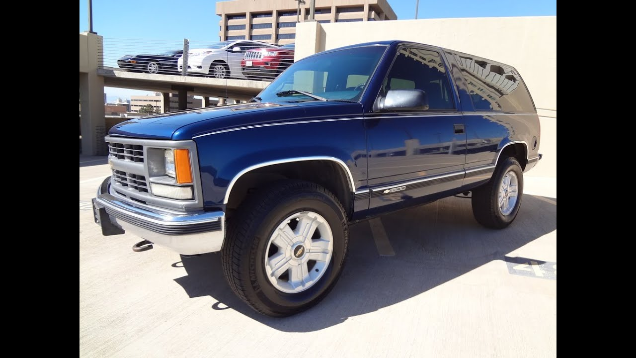 1997 chevrolet 2 door tahoe 4x4 89k miles for sale youtube. Black Bedroom Furniture Sets. Home Design Ideas