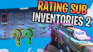 Rating Subscriber VALORANT Inventories! (NUTTY SKINS) #2