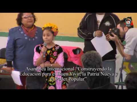 """Inauguración de la Asamblea Internacional """"Construyendo la Educación para el Buen Vivir, la Patria Nueva y el Poder Popular"""""""