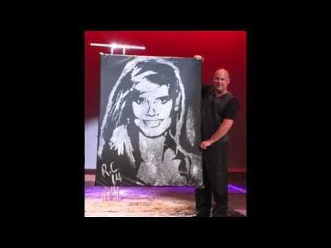 """America's Got Talent"" Speed Painter Robert Channing Paints Heidi Klum"