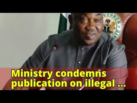 Ministry condemns publication on illegal mining