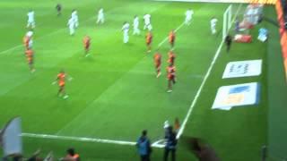 Drogba'nı Akhisar belediye golü GS AKhisar 6-1 tribün çekimi