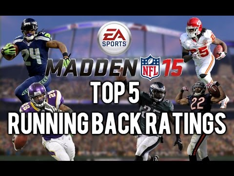 Madden 15 - Top 5 Running Back Overall Ratings - Ft. Adrian Peterson, LeSean McCoy & Marshawn Lynch