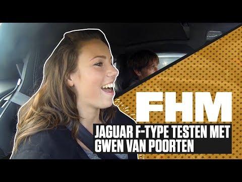 FHM test Jaguar F-TYPE met Gwen van Poorten