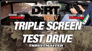 Codemasters Dirt Rally Triple Monitor Gameplay with Thrustmaster
