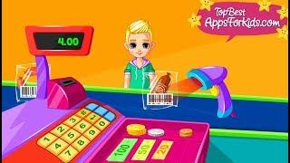 Supermarket Game App 🛒 Cash register & More Mini Games for Kids screenshot 1