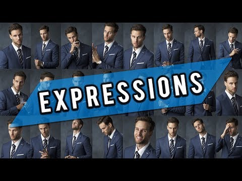 Photo Shoot Tips For Men (Model Poses For Facial Expressions