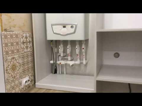 Как закрыть трубы от газового котла на кухне