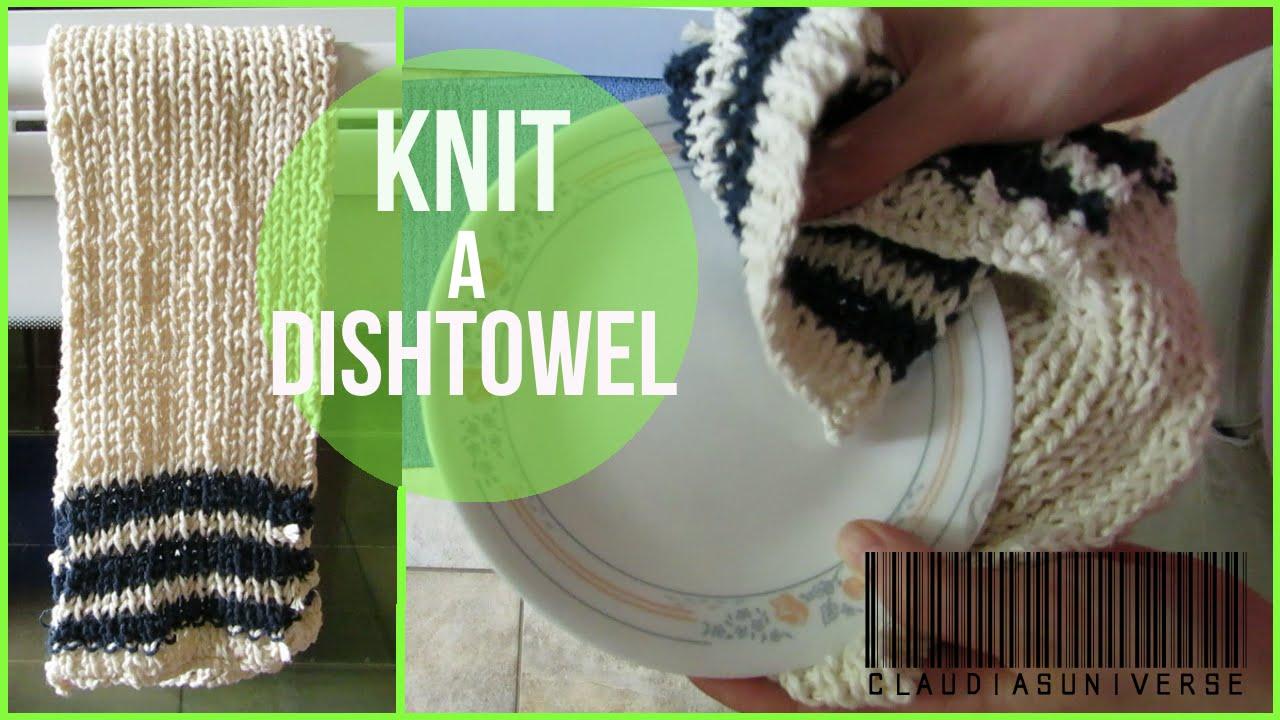 How to Knit a Dishtowel/Tea Towel - YouTube