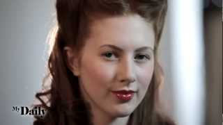1940s Victory Rolls | MyDaily Hair How To Thumbnail