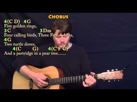 The 12 Days of Christmas - C Major - Acoustic Guitar Instrumental Jamtrack