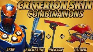 """""""CRITERION"""" SKIN BEST BACKBLING + SKIN COMBOS! (Legendary skin) (Fortnite Battle Royale) (2018)"""