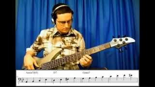 "Walking Jazz Standards #1: ""Autumn Leaves"" - Bass Guitar Lesson"
