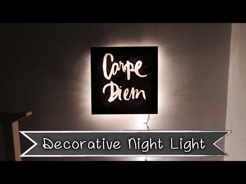 Decorative Night Light - Room Decor Idea | Sunny DIY