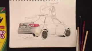 Subaru WRX STI Hatch Drawing