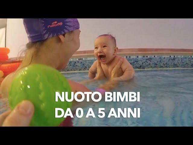 Nuoto bimbi da 0 a 5 anni