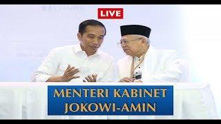 LIVE Pengumuman Menteri Kabinet Jokowi - Amin