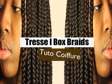 tuto coiffure l tresses box braids youtube. Black Bedroom Furniture Sets. Home Design Ideas