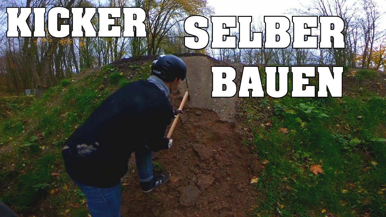 gro en kicker selber bauen bikepark bad salzdetfurth zeitraffer downhillsucht youtube. Black Bedroom Furniture Sets. Home Design Ideas