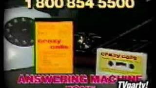 Crazy Calls - answering machine tape TV ad