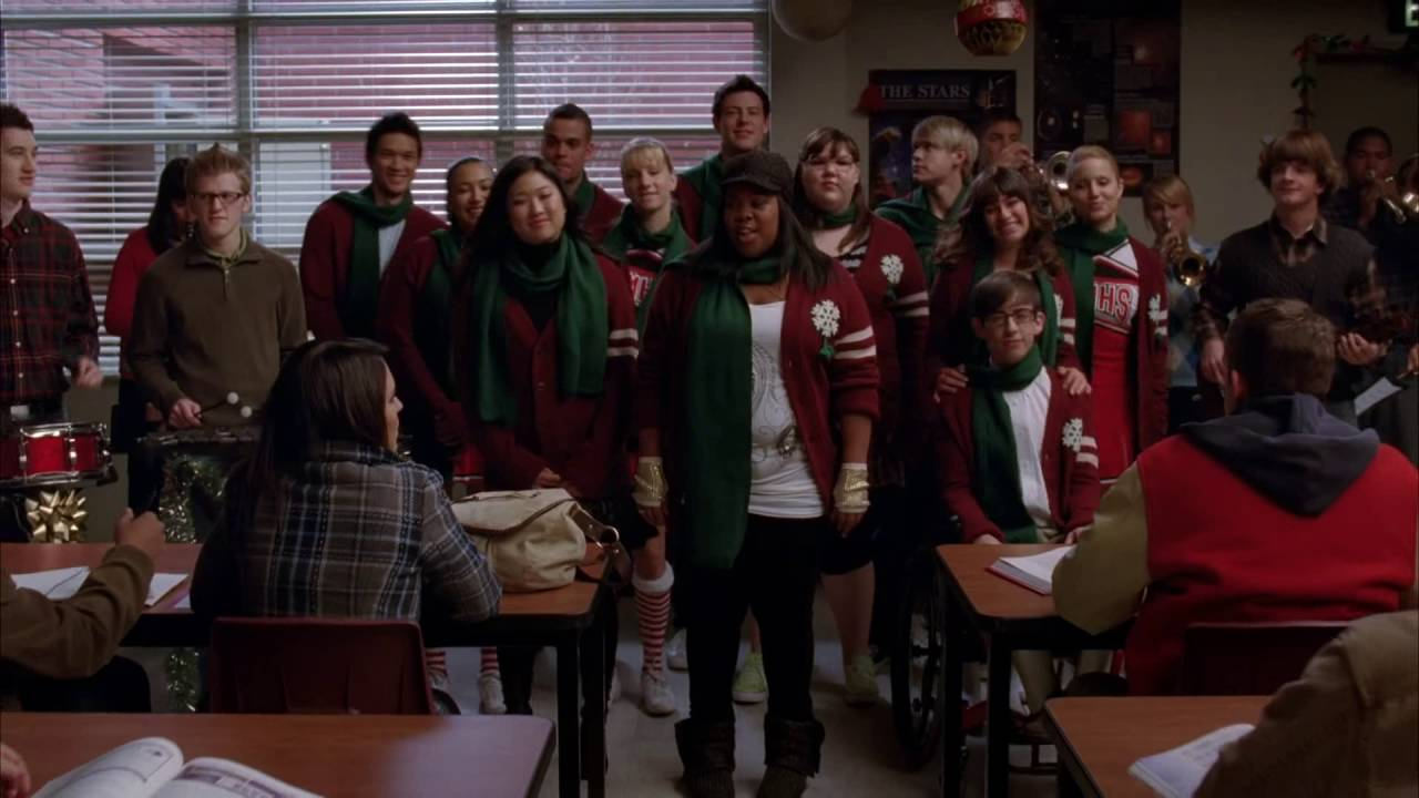 GLEE Full Performance of We Need A Little Christmas - YouTube
