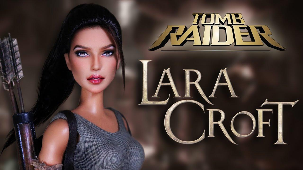 Custom Lara Croft Doll  [ TOMB RAIDER OOAK ]