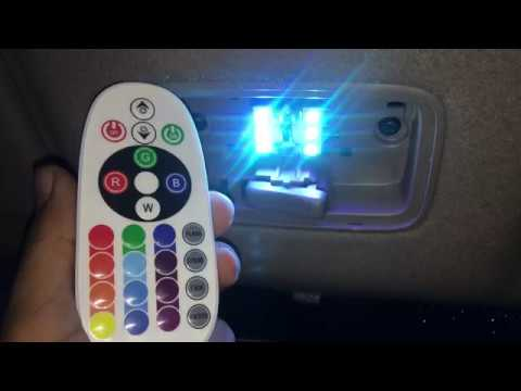 dim increase change color of this car interior led with a remote youtube. Black Bedroom Furniture Sets. Home Design Ideas