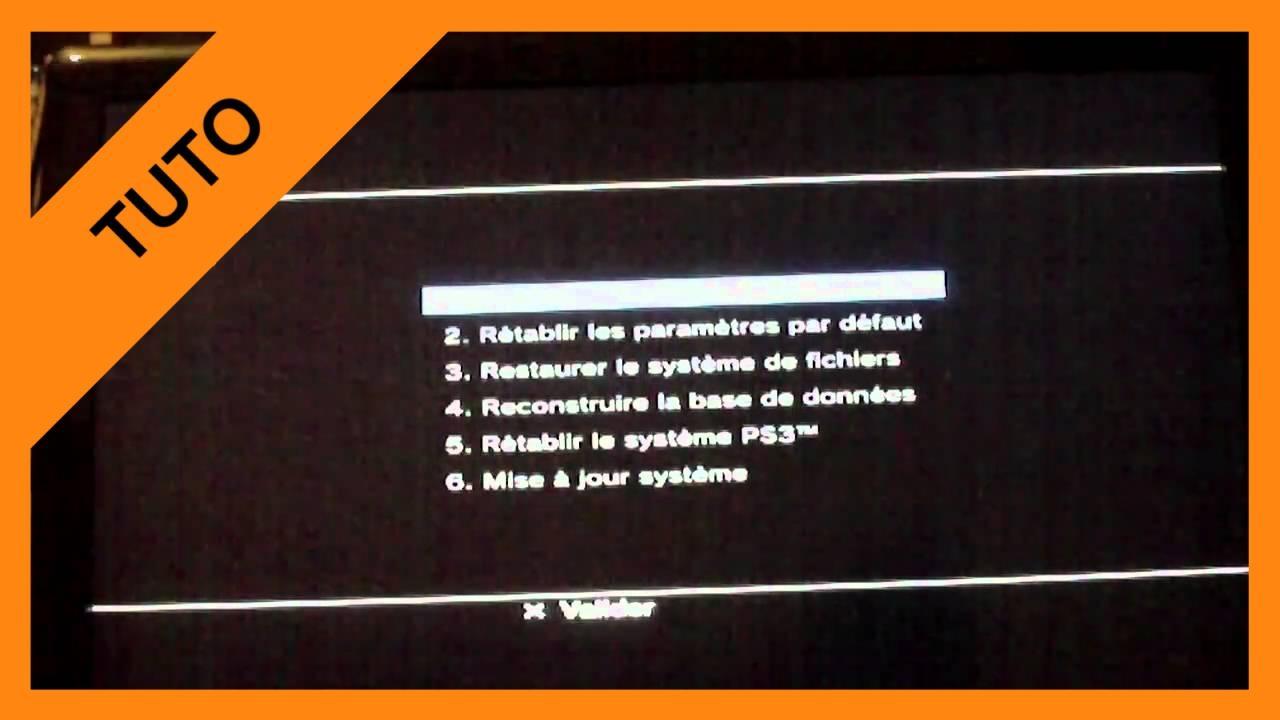 【TUTO】Recovery Mode PS3 (mode sans échec)
