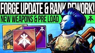 Destiny 2 | THE FORGE UPDATE & RANKS REWORK! DLC Pre Load, Content Locks, Season Changes & Rewards