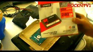 Install SSD hard drive in hp dv6000 laptop