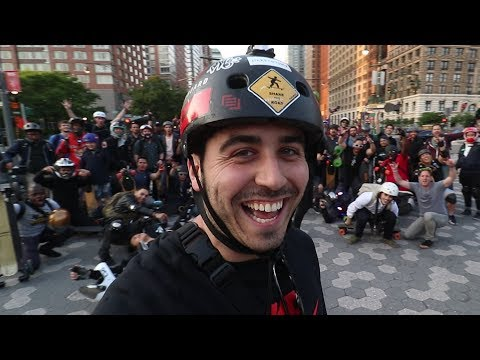 New York City Electric Skateboard Ride (50+ Boards)!