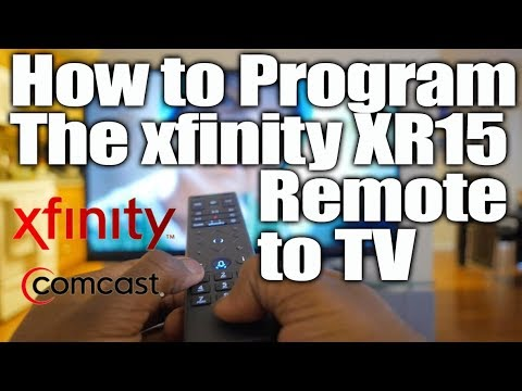 How to program XR15 xfinity remote to your tv