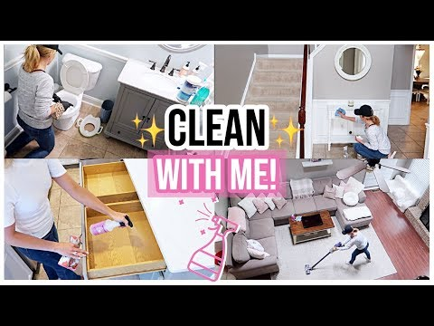 CLEAN WITH ME! ✨ORGANIZING, DECLUTTER, + CLEANING MOTIVATION FOR YOUR HOME 2019 | Brianna K