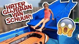 GROTE WATERGLIJBAAN IN DE TUIN - PAPA BOUWT !! - KOETLIFE VLOG #755