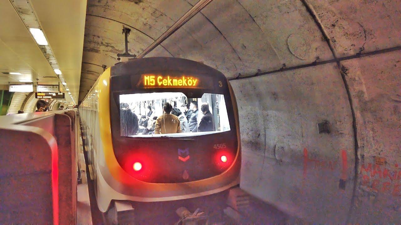 Driverless Subway in istanbul M5 Metro Line (Üsküdar - Çekmeköy)
