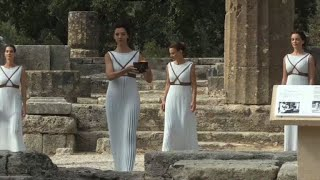 Rehearsal for Olympic torch-lighting ceremony in Athens
