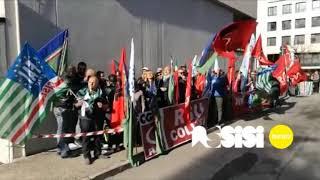 Sciopero Colussi, presidio Confindustria 2017 Ottobre 2017