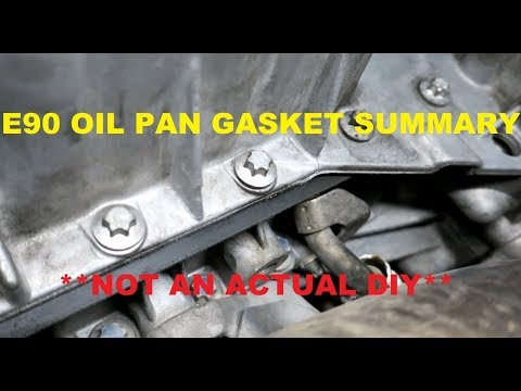 E90 Oil Pan Gasket How To Summary for BMW (N54)  **Not a DIY** - YouTube