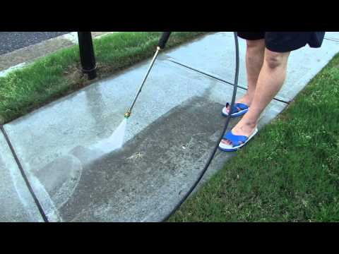 Pressure Washing the Front Driveway and Sidewalk - Simpson 3000 PSI