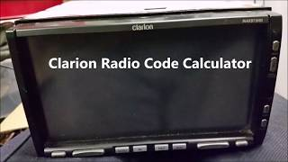 Clarion Radio Code Calculator For Unlocking Codes Reproduction For Any Clarion Model