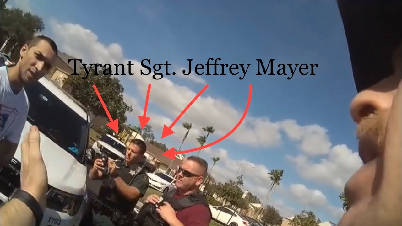 Tyrant Sgt. Jeffery Mayer Is A Complete Liar!!!!!!!BODY CAM FOOTAGE. Orlando's Voice Transparency