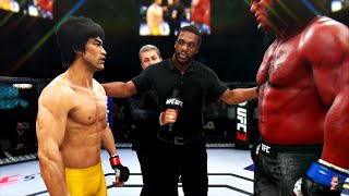 BRUCE LEE Vs HELLBOY 2K19  EA Sports UFC 3