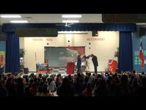 David Sage The Wizard of Wonder at EB Guerra Elementary